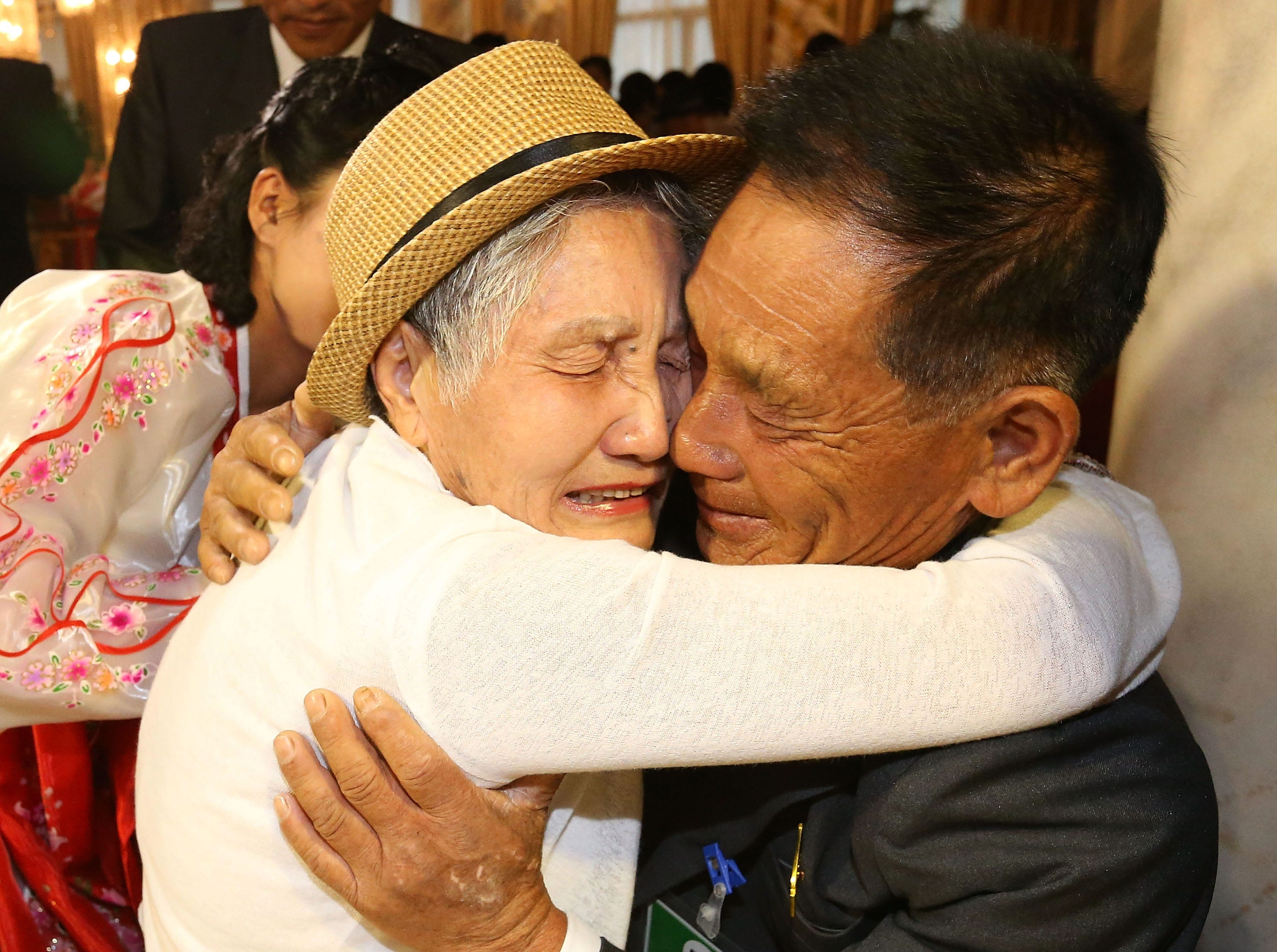 Aug. 20, 2018: South Korean Lee Geum-Sum, 92, meets with her North Korean son Lee Sung-Chul, 71, during a separated family reunion meeting at the Mount Kumgang resort in Mount Kumgang, North Korea. Almost a hundred South Koreans crossed the heavily armed border to meet their separated families for the first time since the 1950-53 Korean War, during a family reunion at North Korea. A total of 88 people from North Korea received a chance to meet their families in the South during the six-day event at Mount Kumgang, north of the border between North and South Korea.