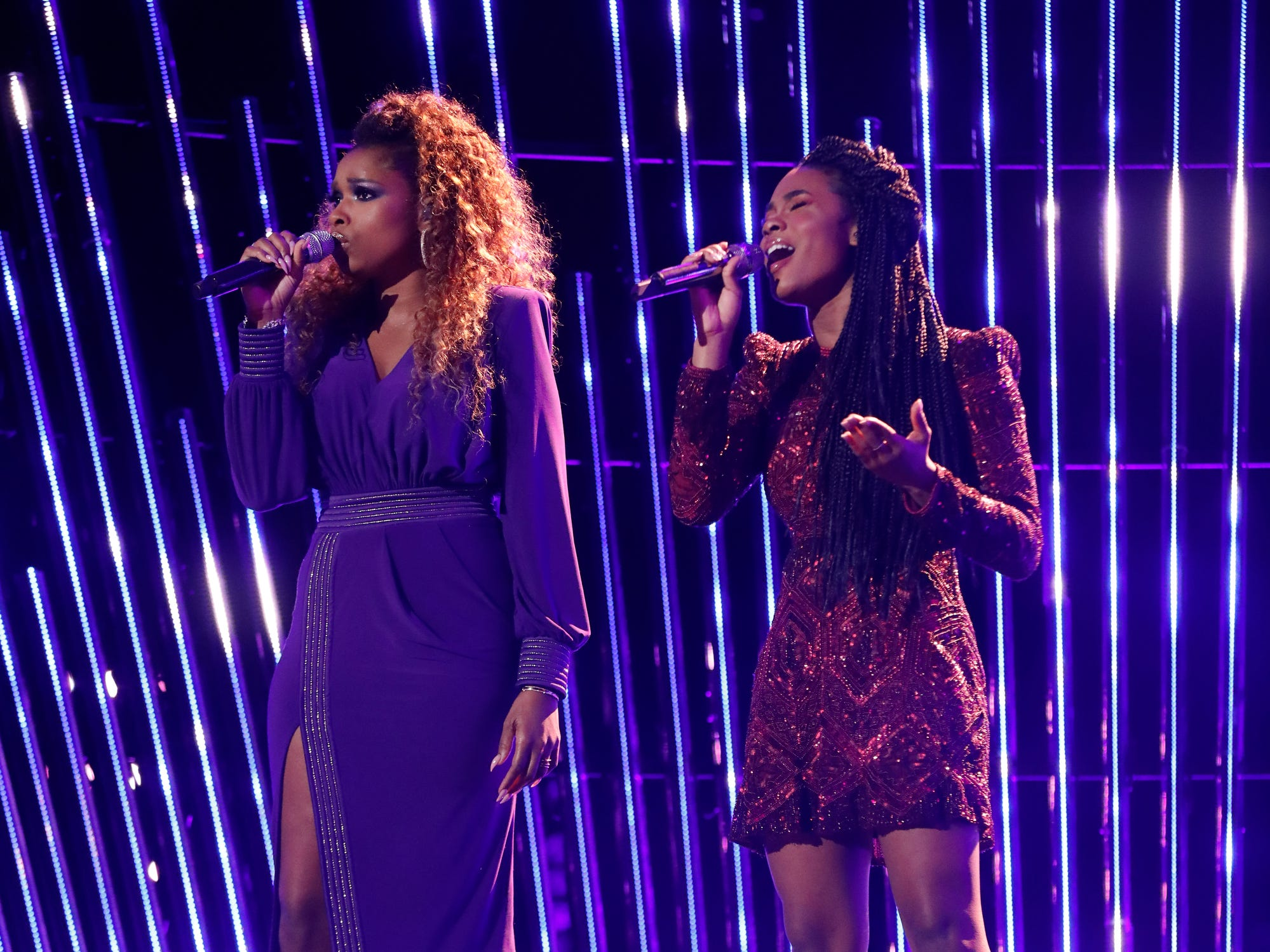 "Kennedy Holmes went big AND went ""Home,"" duetting coach Jennifer Hudson on the ""Wiz"" track."