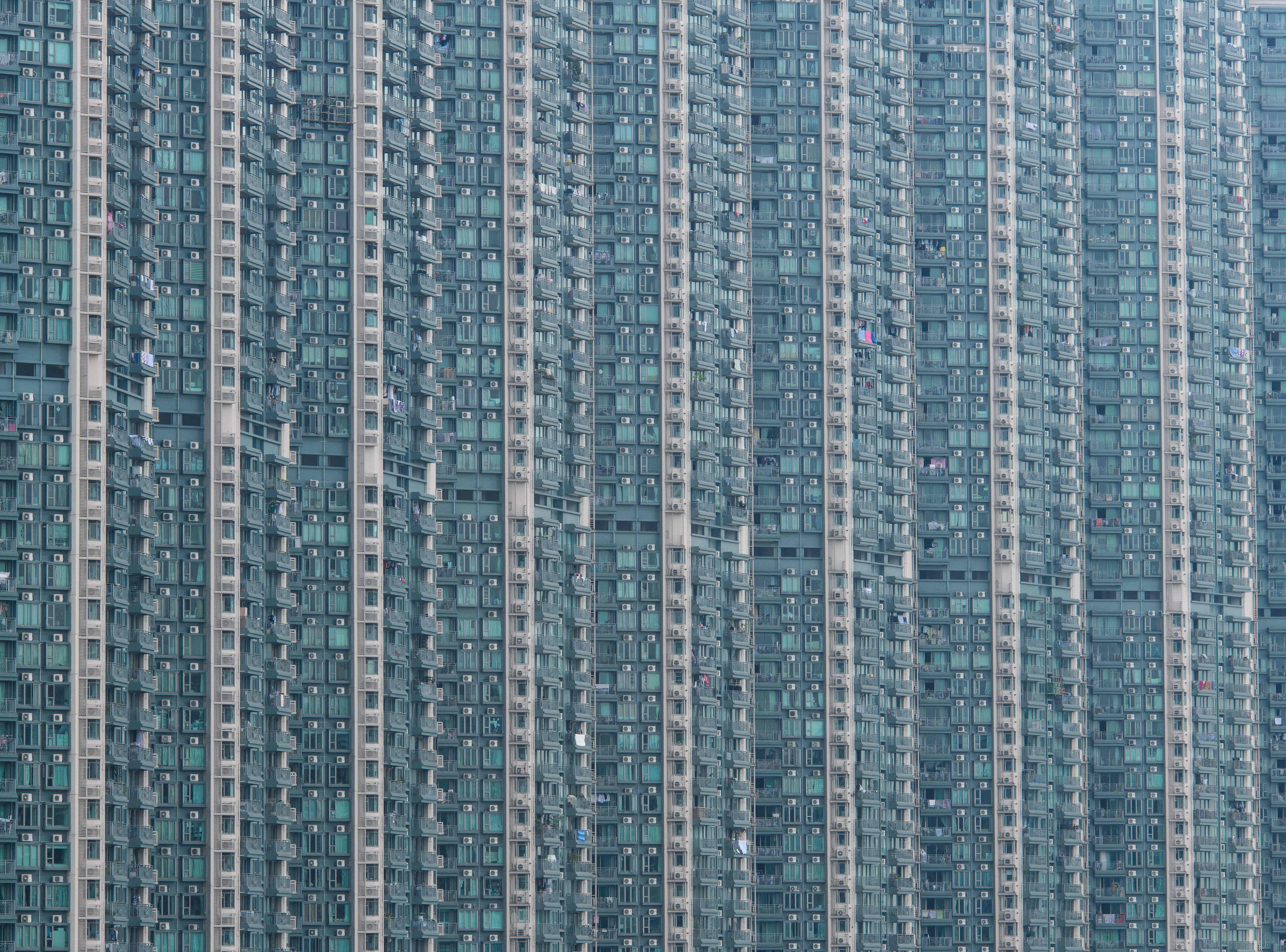 A general view of a residential building complex is pictured in Hong Kong on Oct. 19, 2018.