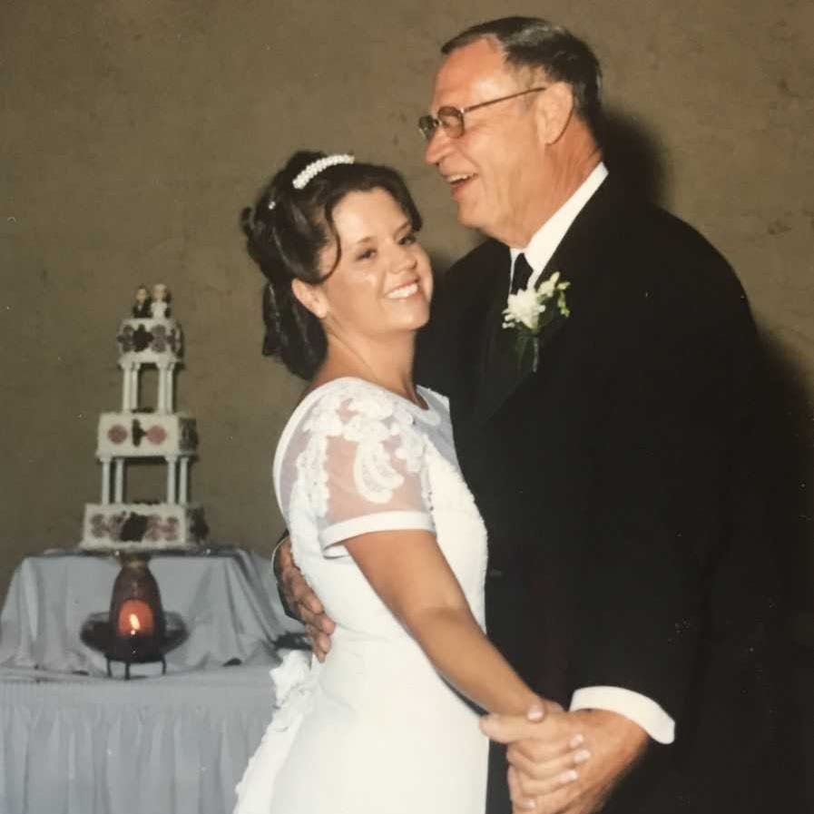 Reporter Sonja Haller dances with her dad, Derril, at her 2003 wedding. He passed away on Christmas 15 years ago but taught her one special thing about gift-giving.