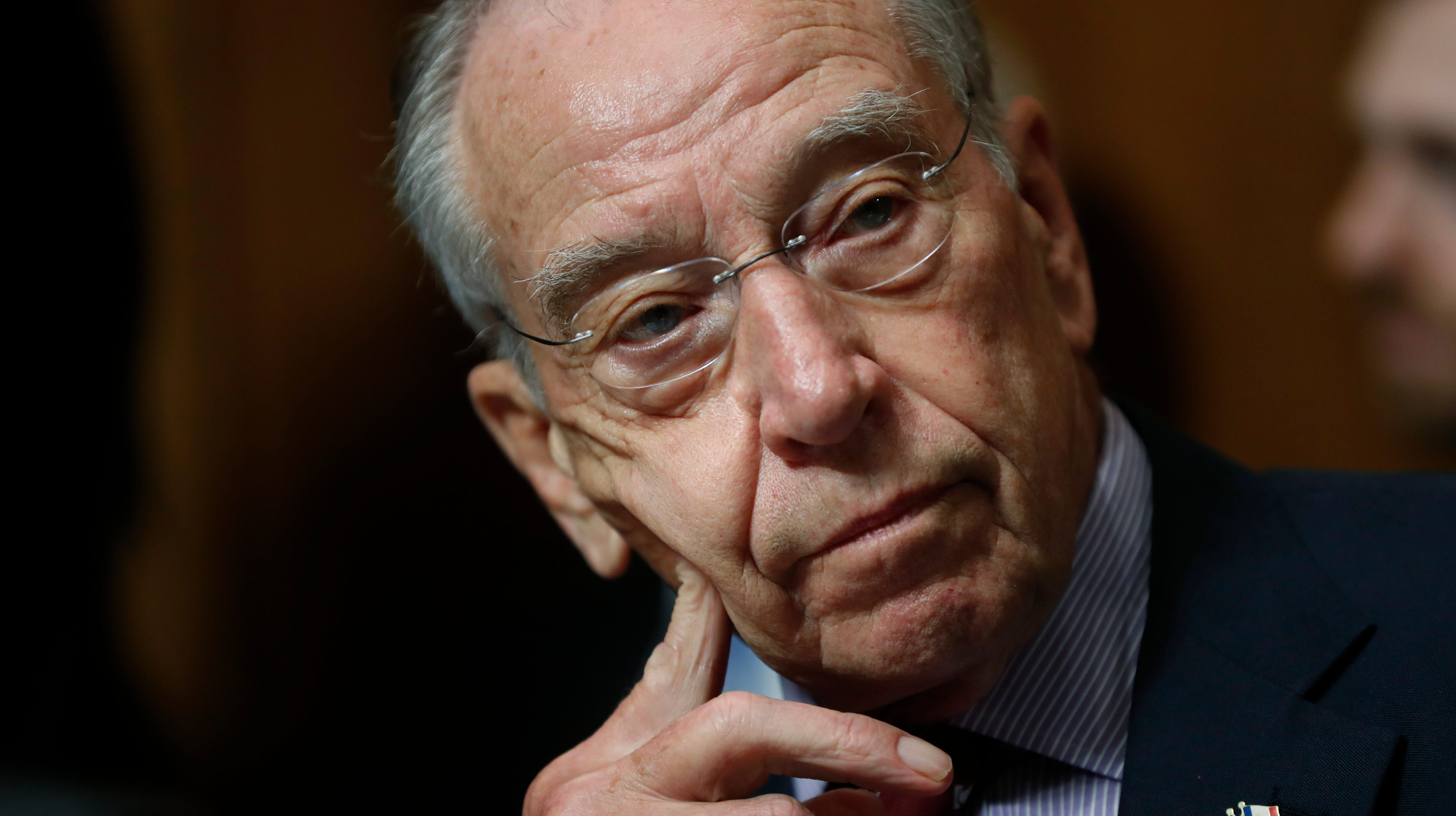 Senate Judiciary Committee Chairman Chuck Grassley, R-Iowa, during a meeting on Capitol Hill.