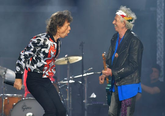 From 1967 to 2018 The Rolling Stones, are still on the move! Jagger and Richard are seen here during their No Filter tour in London. The Stones will be rolling through the U.S. next year. The band says it is adding a 13-show leg to its tour in spring 2019, kicking off in Miami on April 20.