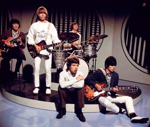 A vintage picture of the Rolling Stones.