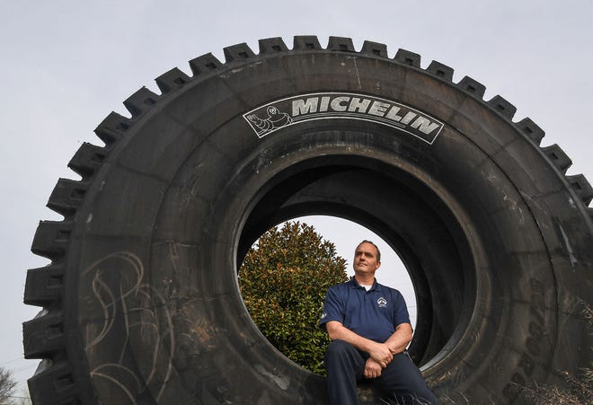 David Clardy at the Michelin Starr Earthmover Facility in Anderson County on Wednesday.