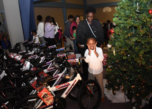 Landon Clarkston 5 A Pre Kindergarten Student At Mabel Brasher Montessori Elementary School Is Excited About Being One Of 30 Students To Get A Bicycle From The Academy Sports Outdoors Holiday Bike Donation Program With Landon Is His Mother Mardescia Clarkston The Alexandria Academy Sports Outdoors Surprised 30 Mabel Brasher Montessori Elementary School Students With Bicycles And Helmets Wednesday Dec 19 2018 The Mabel Brasher Students Were Among The 5 000 Students In 16 States That Were Given Bikes As Part Of Academy S Holiday Bike Donation Program The Bikes Are A Reward For Children Who Have Perfect Attendance Academic Performance Good Behavior And May Have A Need For The Gift