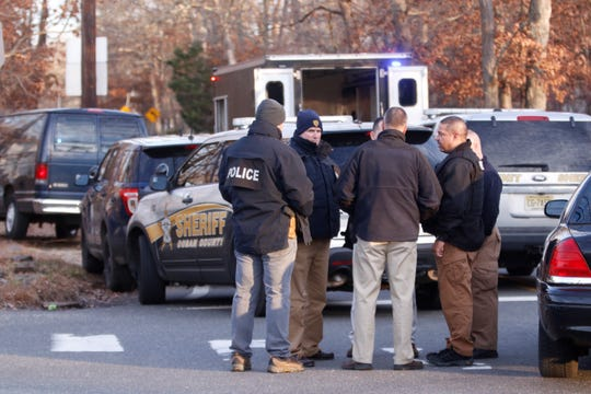 """Police assemble on New Central Avenue and North Hope Chapel Road in Jackson to deal with a """"disturbance."""""""