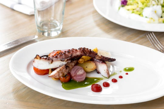 Grilled Portuguese octopus will be served at Avenue on New Year's Eve