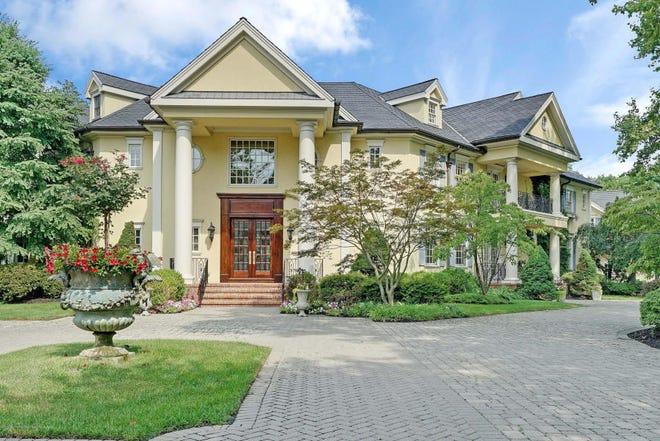 An elegantly poised mansion is at 10 Belknap Lane in Rumson