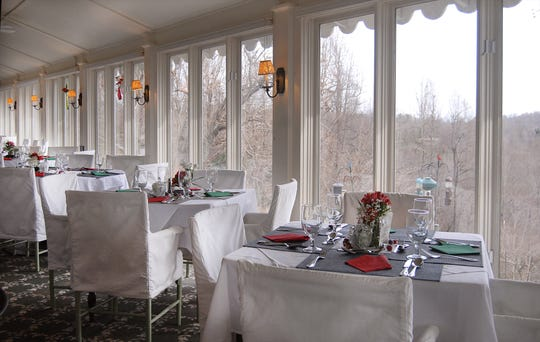 The restaurant at the Orchard Inn is known for its copious windows.