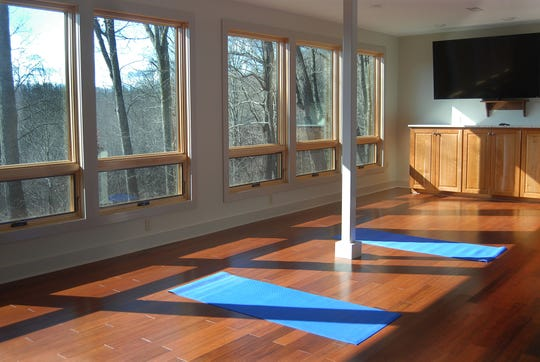 Even the yoga and conference room at the Orchard Inn's spa has wonderful views.