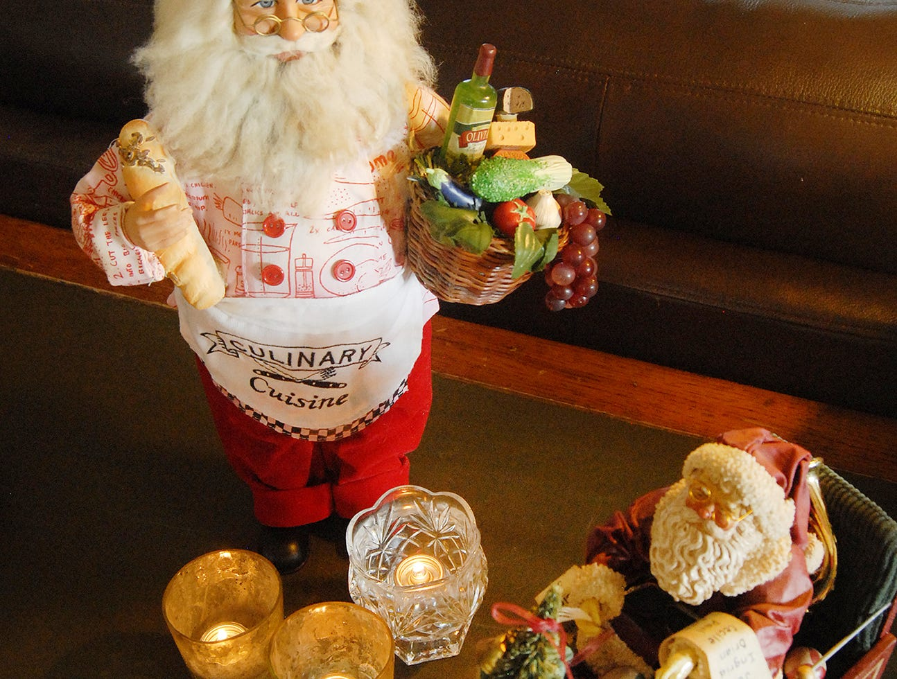 Marianne's favorite Christmas decoration is this Santa Chef, given to her by loyal guest. It sits in the main room of the inn.