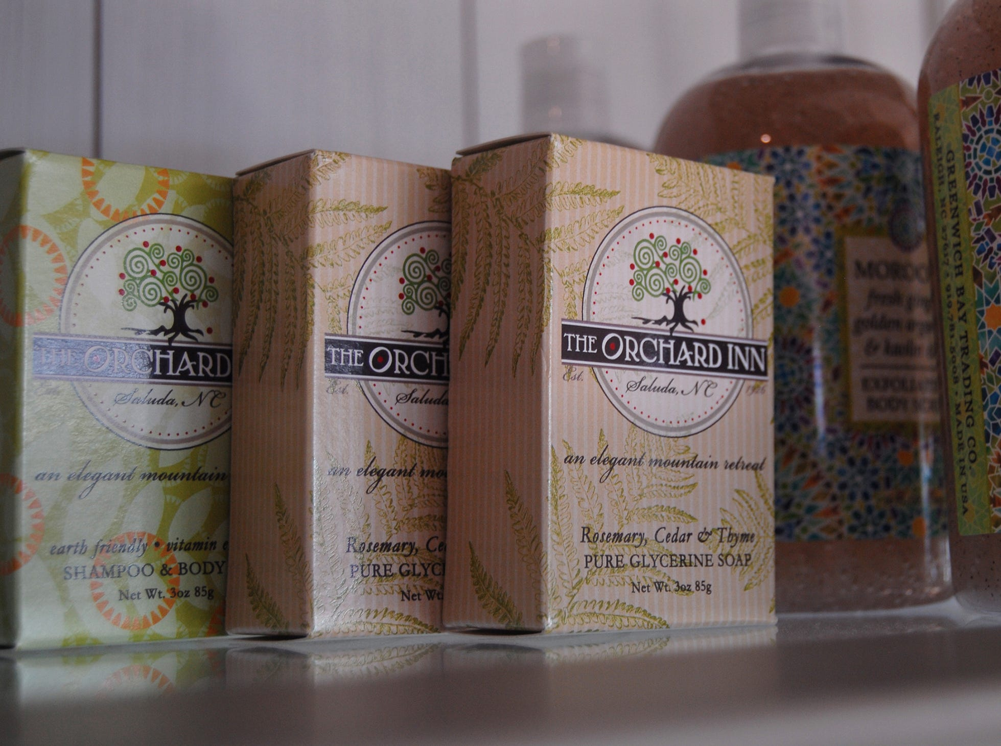 The Orchard Inn also has a line of bath products, used at its spa, made in North Carolina from all natural ingredients.