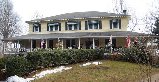 The main building of the Orchard Inn in Saluda.