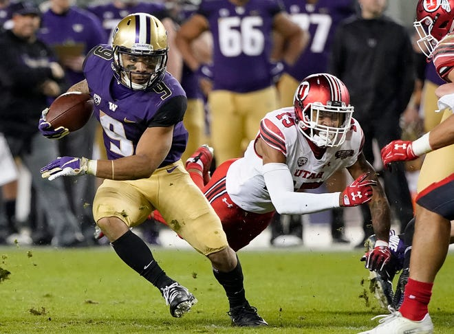 Myles Gaskin has one more game to add to career rushing total, which is the best in University of Washington history.