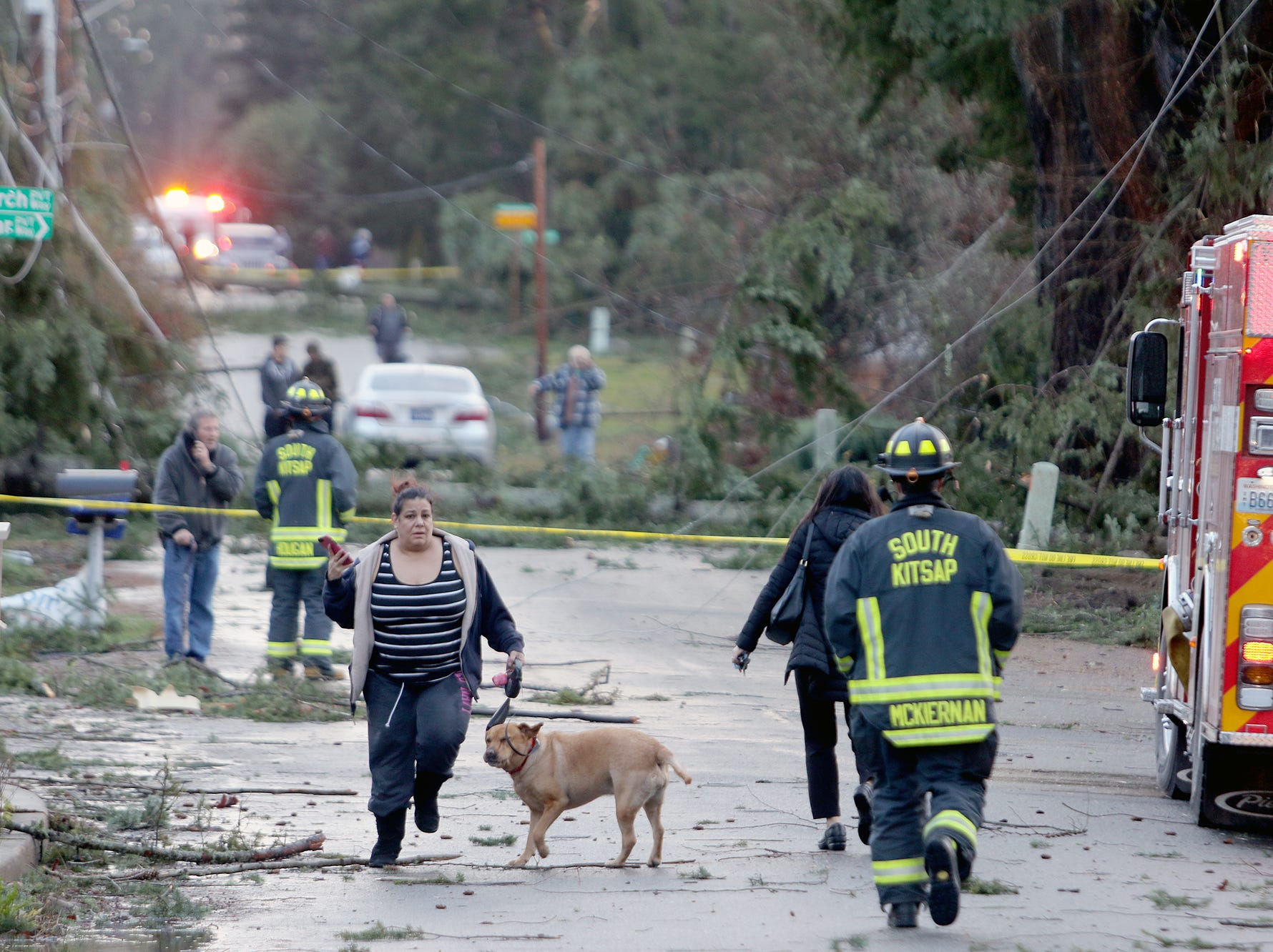 The scene on Harris Road in Port Orchard, where a tornado touched down Tuesday afternoon.