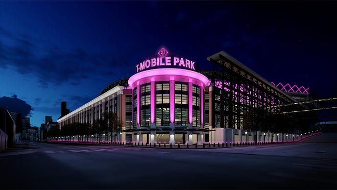 The Mariners released this image showing what the newly renamed T-Mobile Park will look like next season.