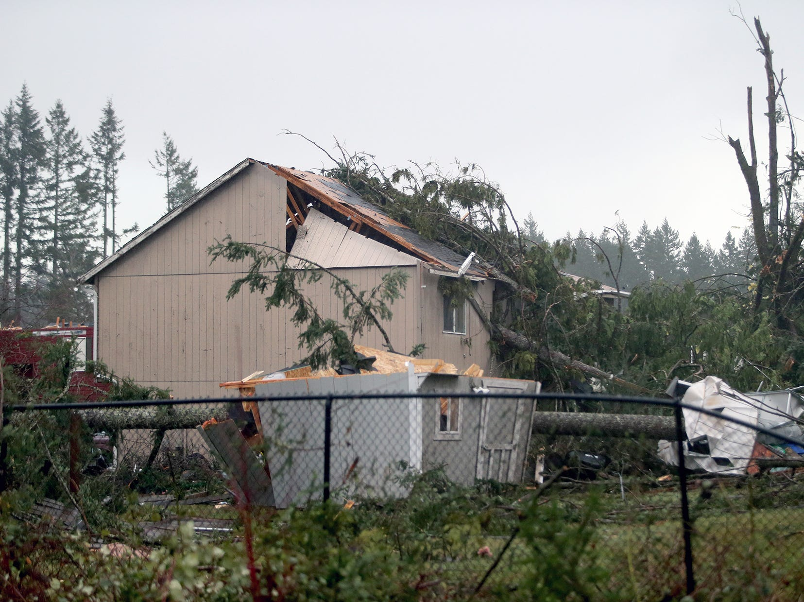 A damaged house near the Port Orchard Wal Mart on Tuesday, Dec. 18.