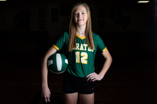 All-South Texas Volleyball Newcomer of the Year Rockport-Fulton freshman Kaylee Howell