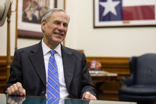 Texas Governor Greg Abbott during an interview at his office in the State Capitol in Austin on Tuesday, Dec. 19, 2018.