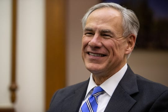 Texas Governor Greg Abbott during an interview at his office in the State Capitol in Austin on Tuesday, Dec. 18, 2018.