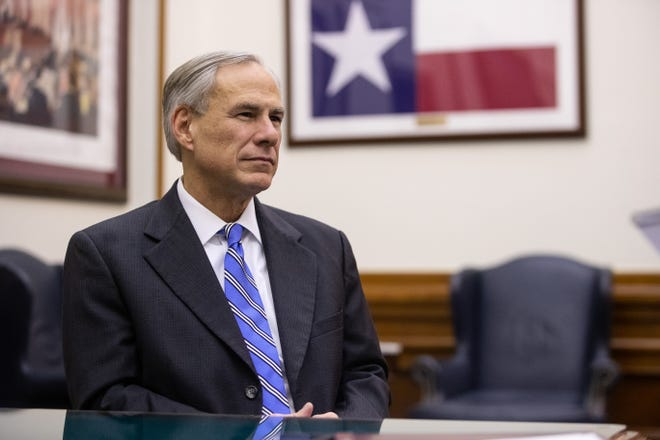 "Texas Governor Greg Abbott during an interview at his office in the State Capitol in Austin on Tuesday, Dec. 18, 2018. He has said ""the toughest thing I've ever had to do as governor"" was visiting with the survivors of First Baptist Church of Sutherland Springs, the site of the nation's worst mass shooting at a house of worship."