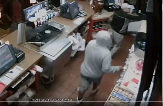 The Corpus Christi Police Department released footage of three men suspected of aggravated robbery at Popeyes in the 1100 block of South Port Avenue on Dec. 16, 2018.