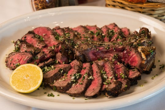 The menu at Carmine's Italian Restaurant in Atlantic City includes this 42-ounce porterhouse steak, which is meant for sharing.