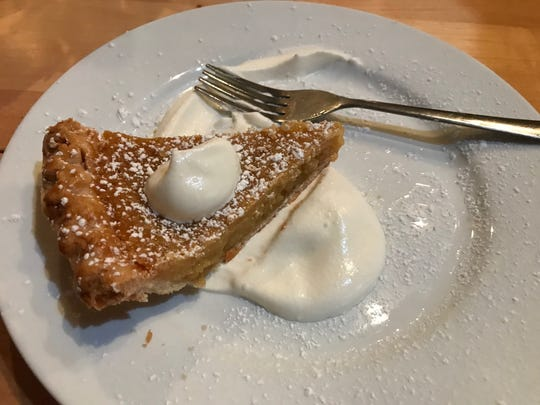 The sweet and gooey milk pie is the perfect way to end a meal at Xina Sushi & Oyster Bar in Toms River.