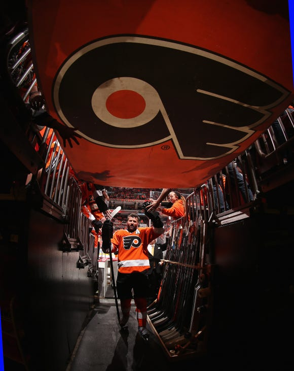 The Flyers will honor Scott Hartnell Thursday night, against the team he began and ended his NHL career with, the Nashville Predators.
