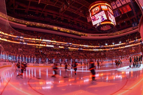 The Flyers return to the indoors with a game against the Buffalo Sabres Tuesday.