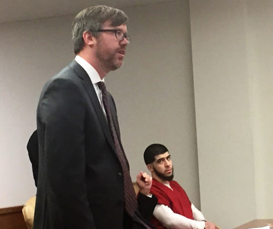 Assistant Camden County Prosecutor Peter Gallagher speaks at Wednesday's sentencing hearing for Christian Ortiz, 18, of Merchantville.