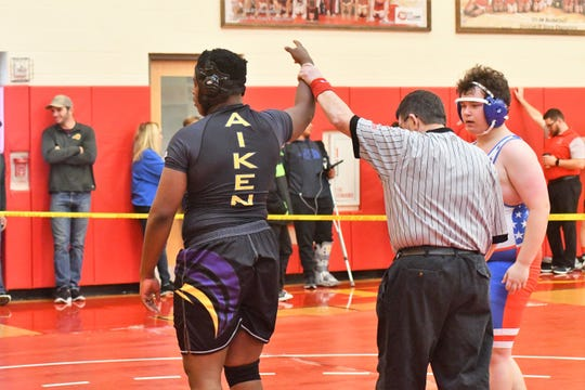 Aiken's Donte Ballinger was third in the city in his weight class last season with 23 wins.