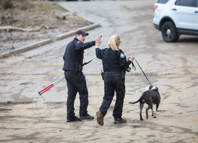 A dog trapped in the Ohio River was rescued early Friday morning.