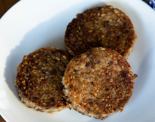 Glier's Goetta cooked by Polly Campbell for comparison  with Scrapple on Tuesday, Dec. 18, 2018, in Cincinnati.