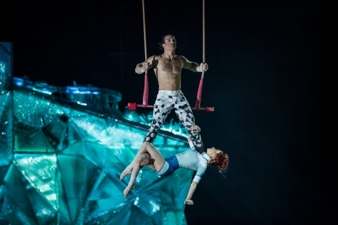 """A scene from Cirque du Soleil's """"Crystal."""""""