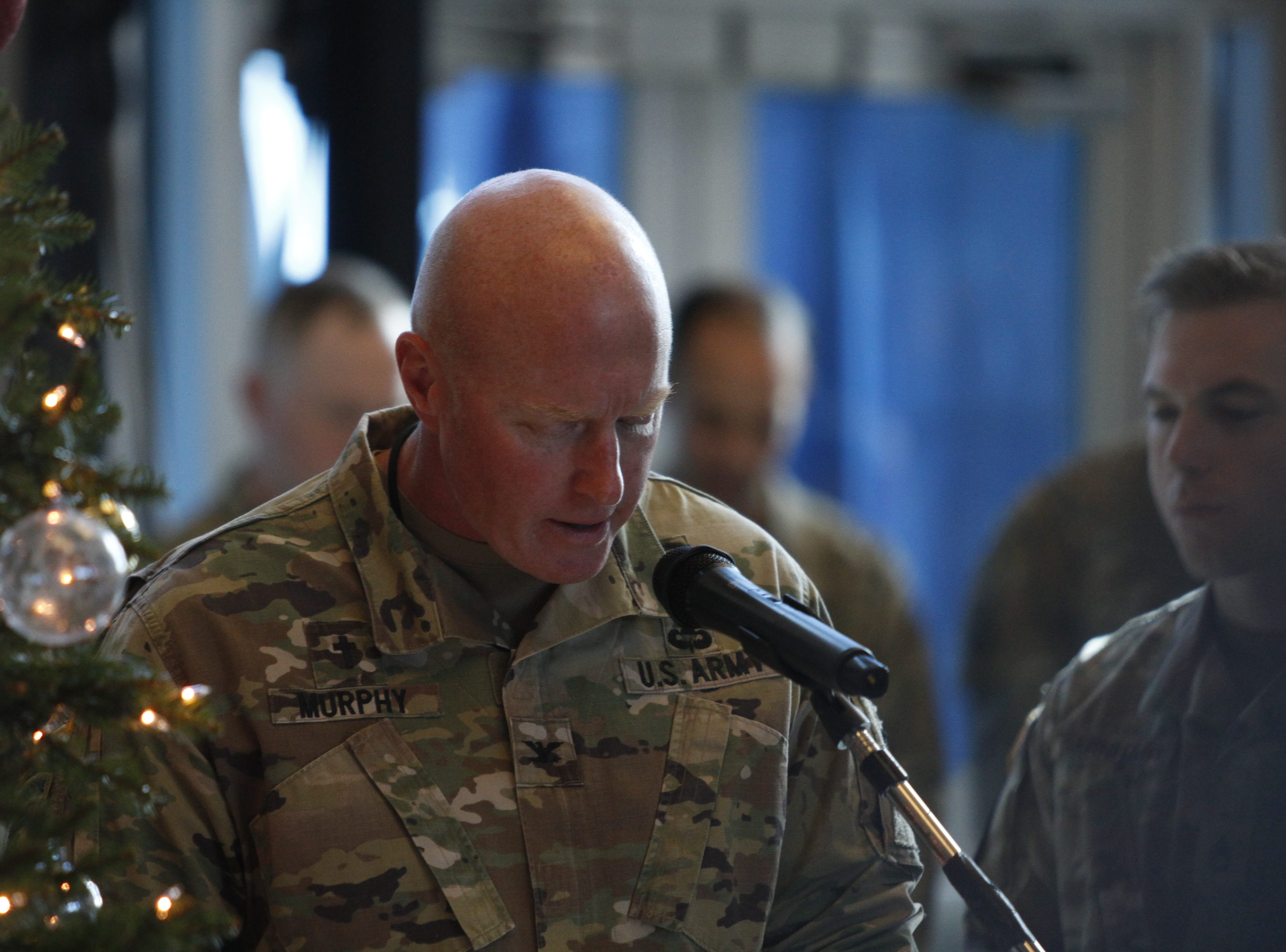 The uncasing of the 101st Airborne Division colors following its Afghanistan deployment, on Wednesday, Dec. 19, 2018.