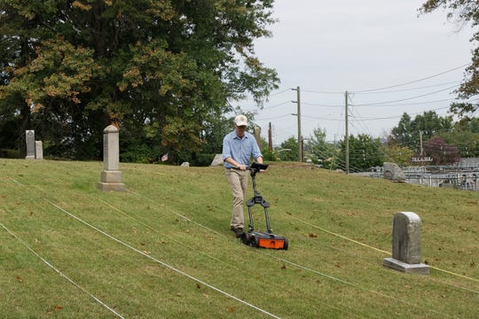 Tim Horsley of Horsley Archaeological Prospection, LLC conducts a ground penetrating radar survey of Washington Monumental Cemetery in South River New Jersey.  This section of the cemetery has been long rumored to contain victims of the 1918 Influenza Epidemic.