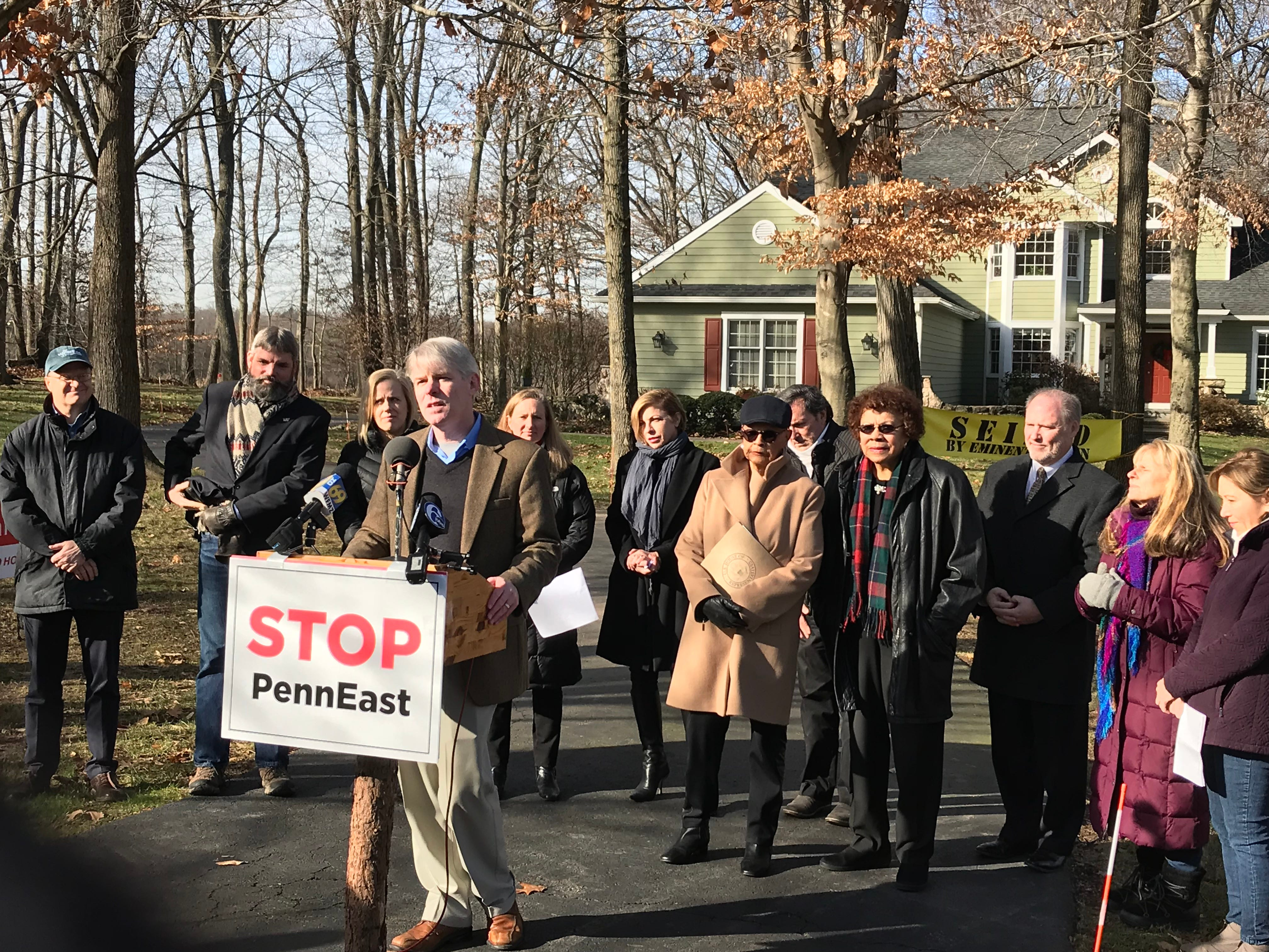 A bipartisan group of elected officials today joined conservation leaders and citizen landowners whose land will be seized by PennEast pipeline after a court ruling on Friday, in opposition to an infrastructure project that will serve no public benefit.