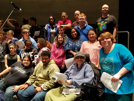 Members of Community Access Unlimited prepare to perform in last year's collaborative concert with Kean University music majors.