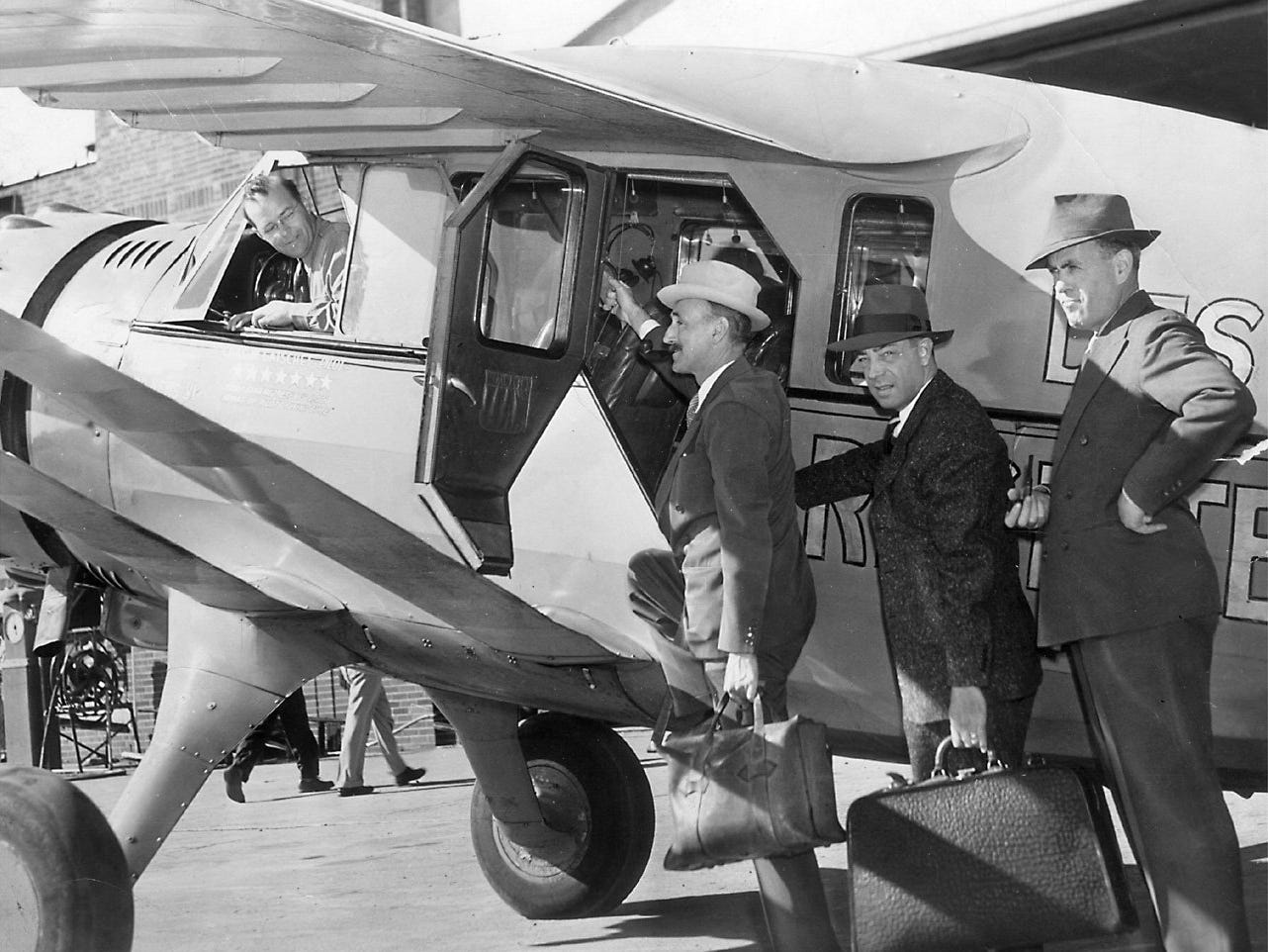 At right, Charles Gatschet aboard Good News VI, between 1936 and 1939.