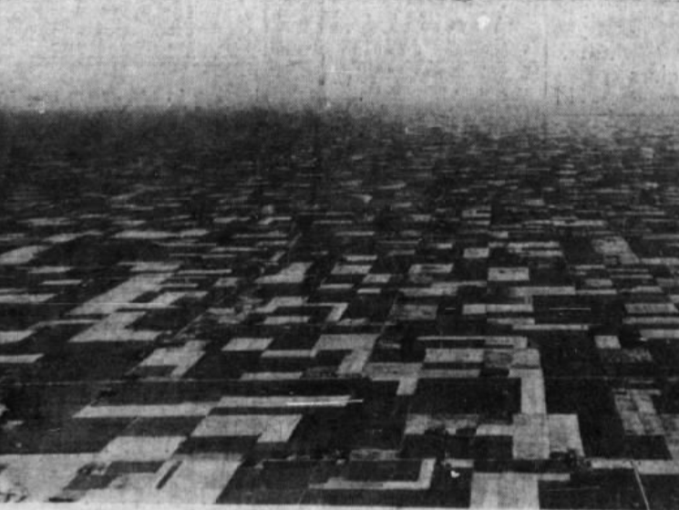 From 1937: This photo of farm fields near Jefferson, taken from Good News VI in 1937, looked like a patchwork quilt.