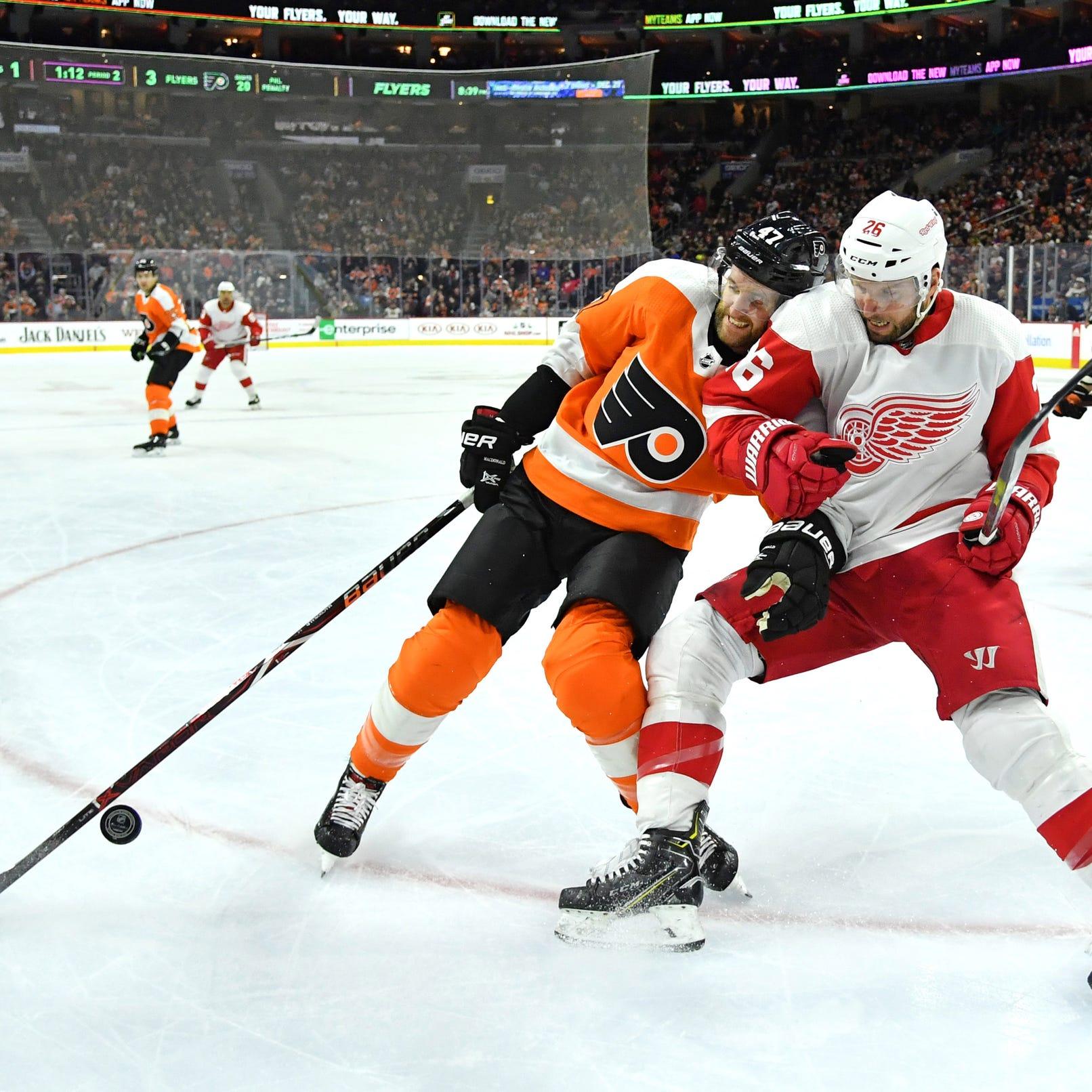 Philadelphia Flyers defenseman Andrew MacDonald...