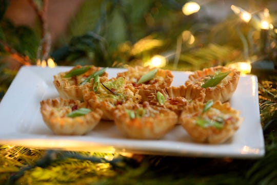 Mini Quiches with Asiago and Red Pepper