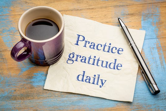 Practice Gratitude Daily Reminder On Napkin
