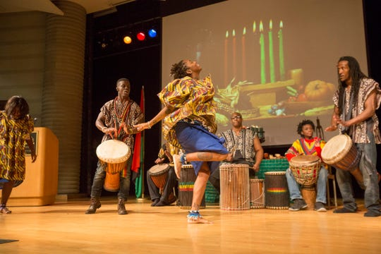 Drums, colorful attire and African dance are a part of Kwanzaa events at the Wright Museum.