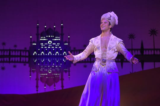 "A touring version of 2014 Broadway hit ""Aladdin"" is at the Opera House through Jan. 13."