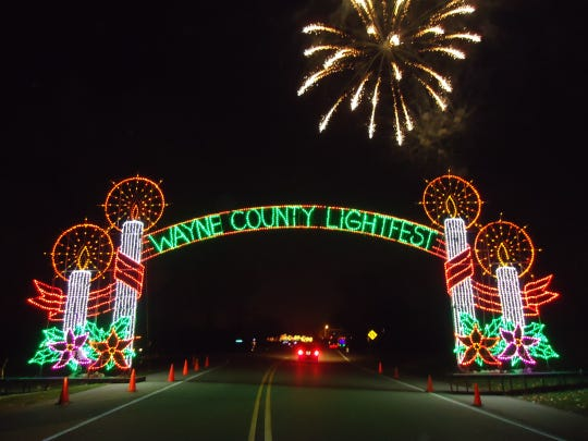 Wayne County Lightfest features 47 displays powered by more than a million lights.