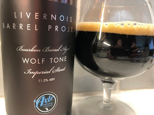 Wolf Tone, a bourbon-barrel-aged stout by Axle Brewing Co. of Ferndale.