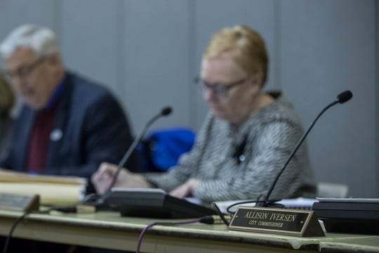 Former Huntington Woods City Commissioner Allison Iverson did not present at the city commission meeting at the Gilliam Recreation Center in Huntington Woods, Tuesday, Dec. 18, 2018.