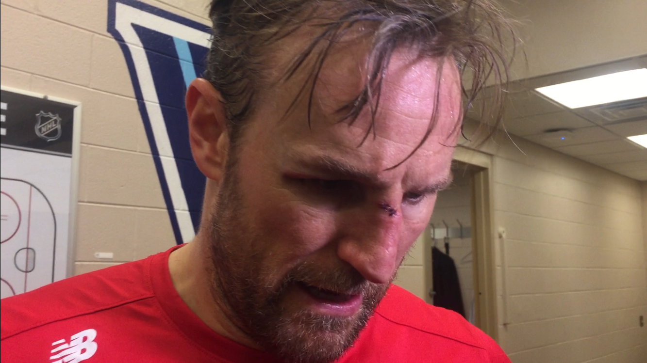 Niklas Kronwall took a stick to the face in game vs. Philadelphia Flyers on Tuesday, Dec. 18, 2018. That's a metaphor for how the Detroit Red Wings are doing.